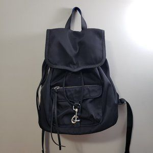 Rebecca Minkoff * Black Nylon Drawstring Backpack